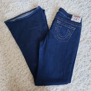NWOT Carrie True Religion flare blue jeans